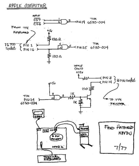 Apple I - teletype schematic