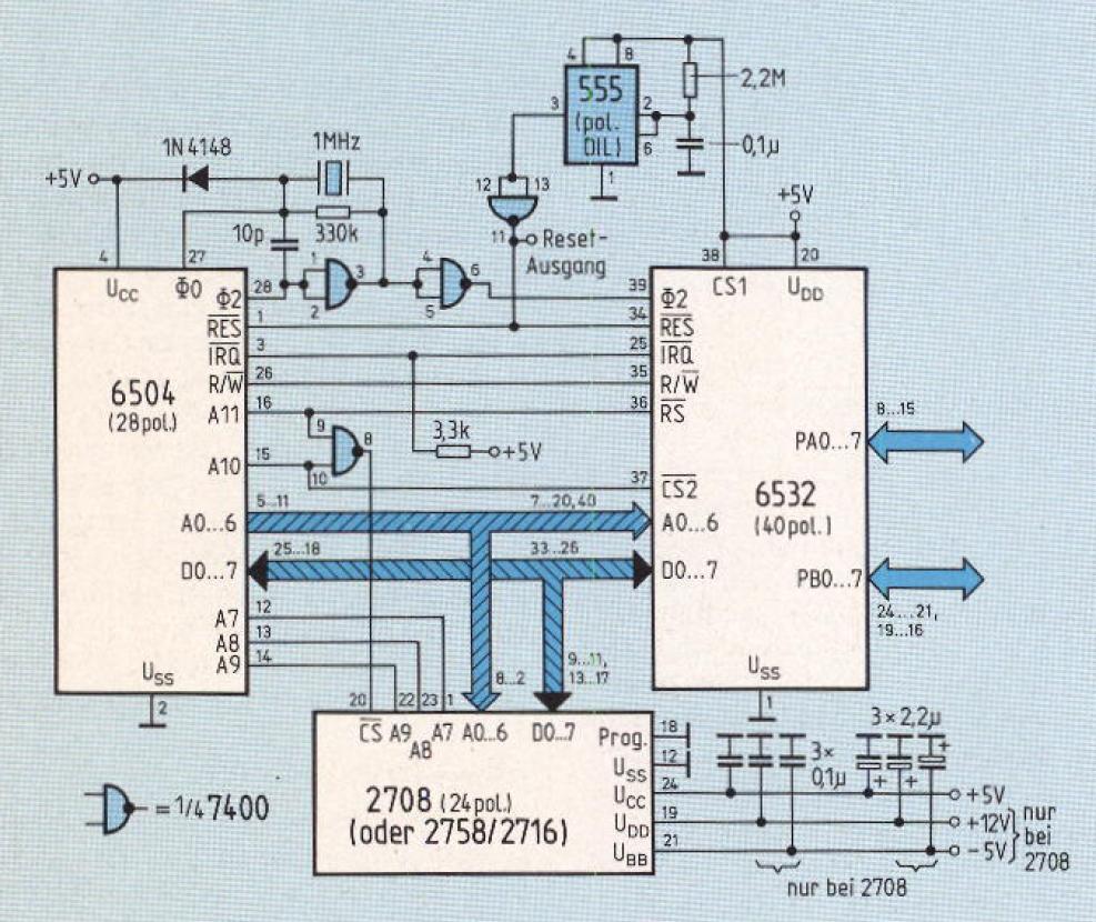Emuf 6504 Retro Computing 6502 Logic Diagram