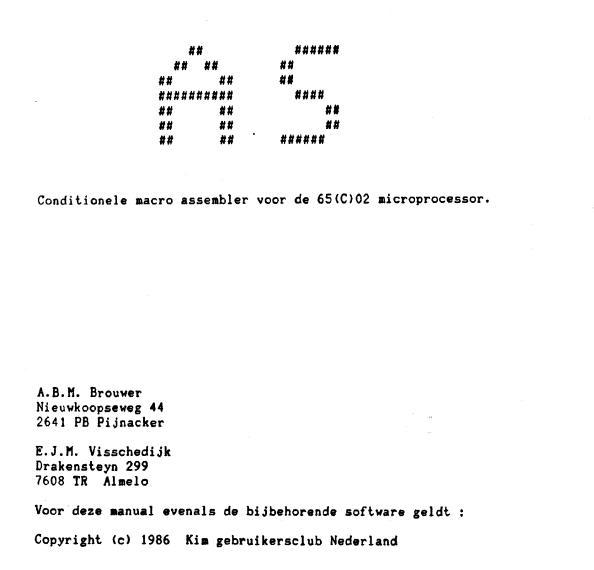 DOS65-Assembler_NL.pdf front
