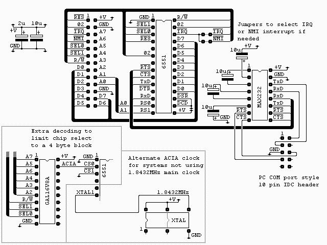 acia 6551  u2013 retro computing
