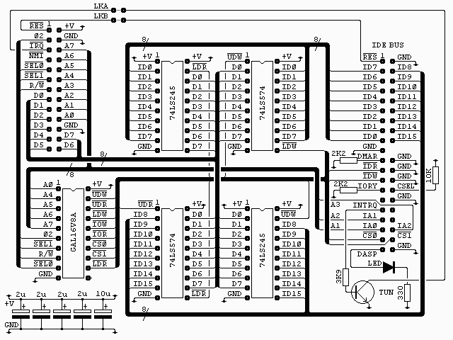 ide bus interface circuit  u2013 retro computing